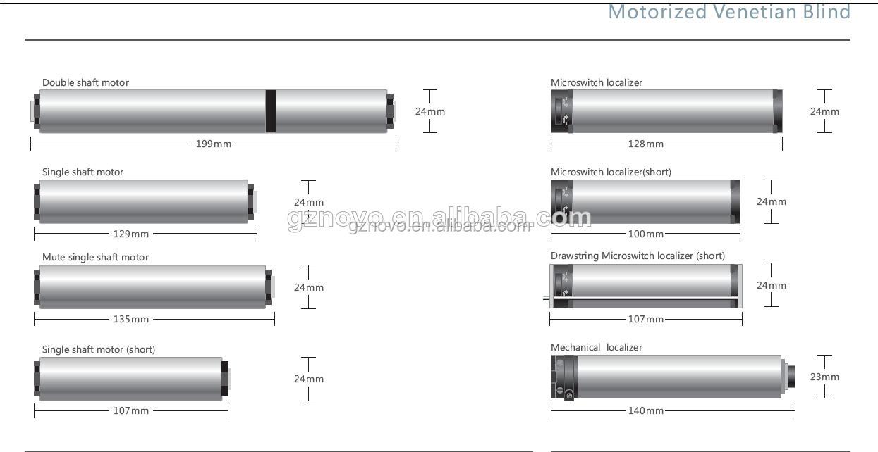 Manual / Motorized Water Proof Width 25mm Faux Wood