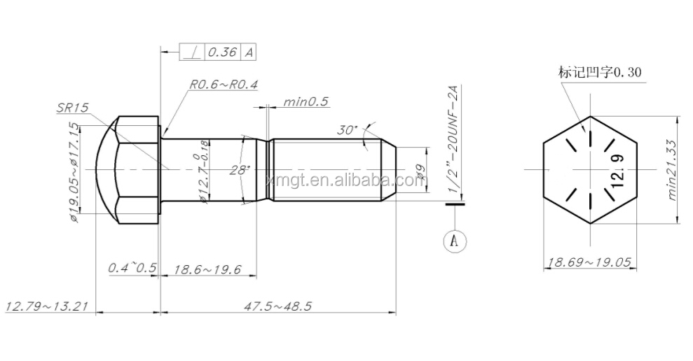 excavator bucket bolt track bolt on bucket teeth from