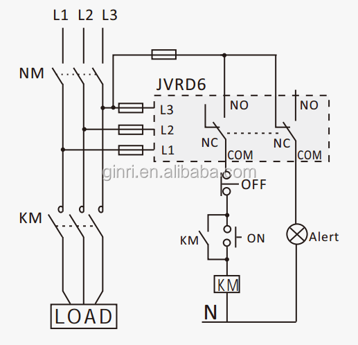 Ginri Jvrd6 3 Phase Voltage Protection Relay Phase