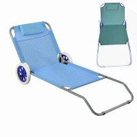 Folding Beach Chair With Wheel Metal Folding Chair Bed ...