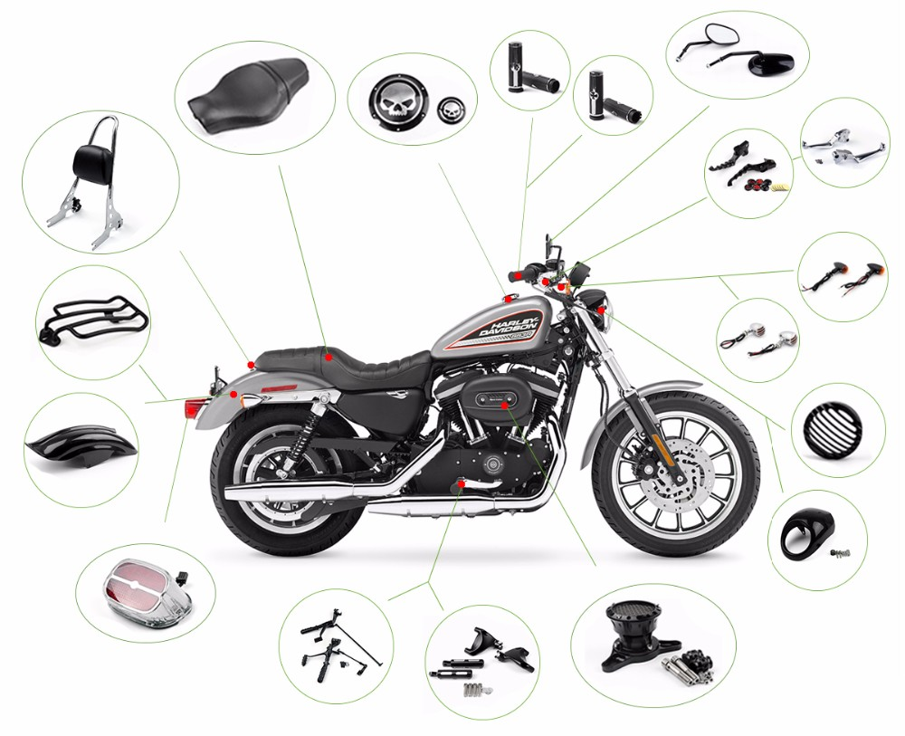 Manufacturer Wholesale Custom Motorcycle Body Kits For