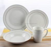 16pcs Silver White Royal Porcelain Dinnerware,Make Your ...