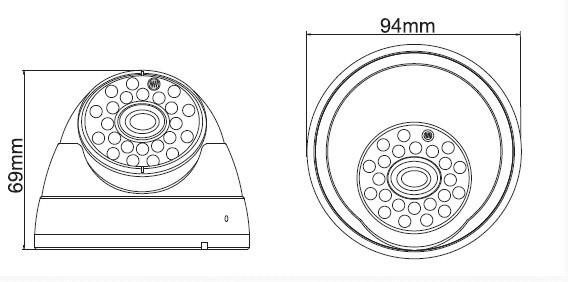 Ambarella A5S66 Fixed Lens 2.4 Megapixel Vandalproof Night