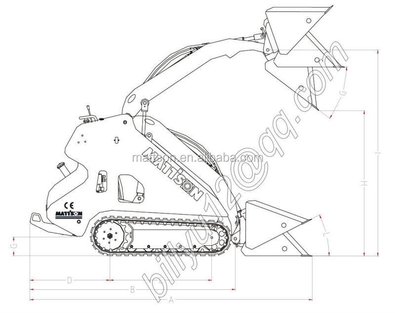 Mattson Ml526 Small Wheeled Mini Skid Steer Loader 26hp