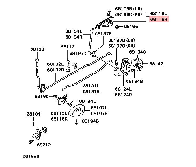 Porte arrière Poignée Extérieure Pour Mitsubishi Pajero