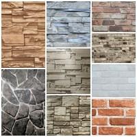 Vinyl Wall Decorative 3d Brick Design Wallpaper - Buy ...