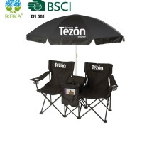 Double Seat Folding Chair With Umbrella - Buy Folding ...
