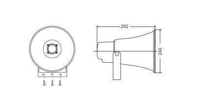 Ip66 Waterproof Pa System Horn Loudspeaker 30w 15w 10w