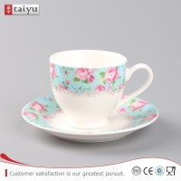 Wholesale White Porcelain Custom Printed Ceramic Tea Cups ...