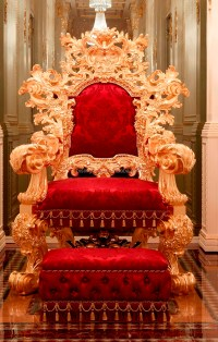 Luxurious Royal Solid Wood King Chair With Stool,Imperial ...