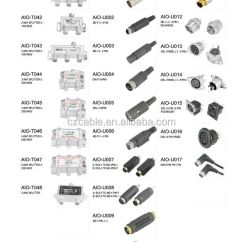 5 Pin Din Plug Wiring Diagram Harley Diagrams 8 Sets Mini Male Solder Connector - Plastic To Create A Custom Cable Pinout. Buy ...