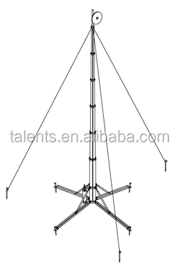 Wireless Antenna Rotator,3 Legged Steel Tower For Antennas