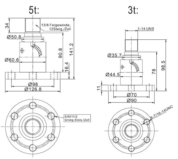 Sc4978 Load Cell Forklift Scale Models Load Cell Sensors