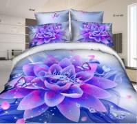 Bright Color Purple Flower Bedding Sets - Buy 3d Bedding ...