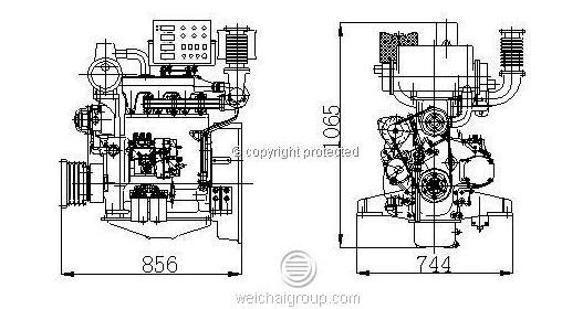 3-cylinder Small Diesel Engine Inboard Marine Diesel
