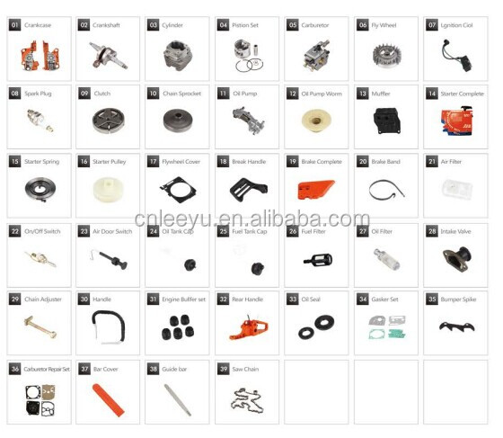 Good Quality 5200 Chainsaw Spare Parts Cylinder Assy For
