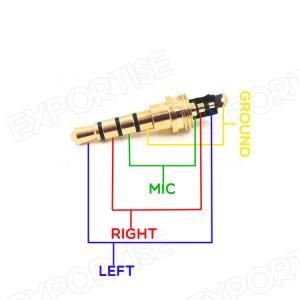 35mm 4 Pole Male Repair Earphones Jack Plug Connector Audio Soldering  Buy 4 Pole Male Repair