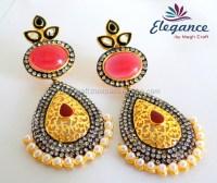 Bollywood style earrings - Indian fashion earring ...