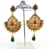 Wholesale Indian ethnic earring - one gram gold jewelry ...