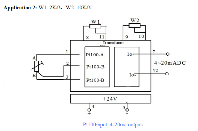 Pt100 To 4-20ma Output Signal Converter Pt 100 Rtd