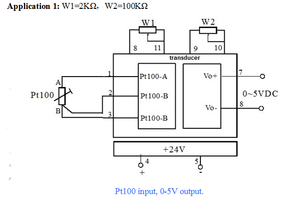 Pt100 To 4-20ma Output Signal Converter Pt 100 Rtd