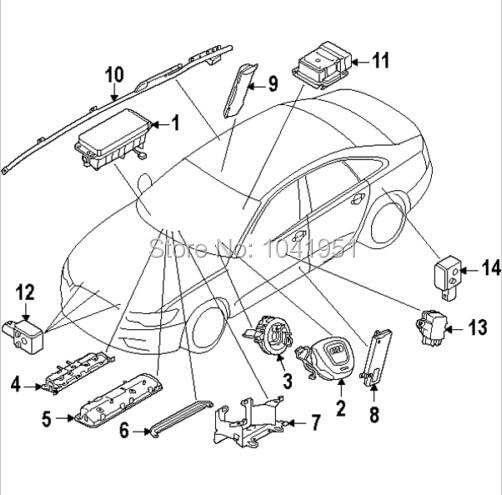 Airbag Impact Sensor Crash Sensor Collision Sensor SRS for