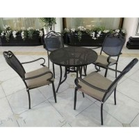 Outdoor-patio-furniture-wrought-iron-tables-and-chairs ...