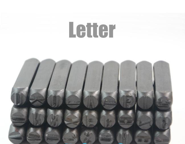 Click here!! 36 pcs acier Stamp Punch Alphabet et numéro alphanumérique  détachés de cuir lettres Impact en cuir LOGO 37d408690ce