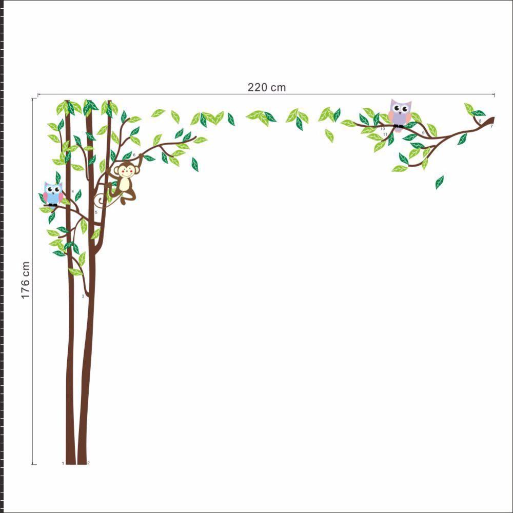 ≧<b>Сова</b> Обезьяна Дерево детский сад настенные наклейки для ...