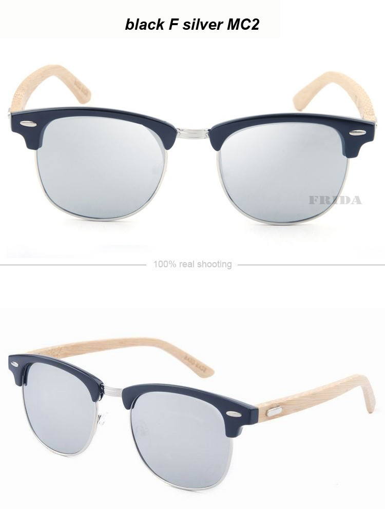 ④Фрида Bamboo Солнцезащитные очки для женщин Для мужчин Дерево ... eb694fd4e4
