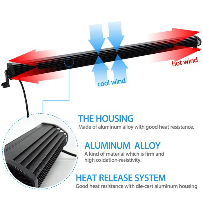 ₪Conjunto de 52 pulgadas LED bar Offroad luz 300 W con JK parabrisas ...