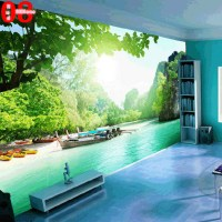 Large custom any size mural tv wall sofa background wall ...