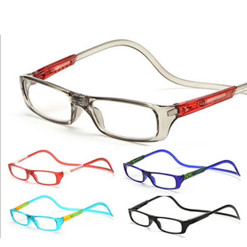 Das Mulheres Dos Homens Óculos de Leitura magnética Ímã Claro Eyewear  Ajustável Pescoço Pendurado óculos para presbiopia 1.0 1.5 2.0 2.5 3.0 3.5  4.0 b6a2fbcbf4