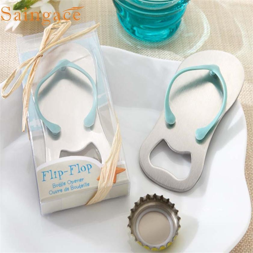 210a18542 Zero Beach Flip Flops Bottle Opener Corkscrew Bridal Shower Wedding Favors