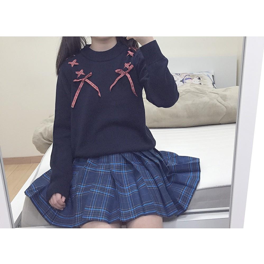 bc1e2d1cd ⊰2016 Autumn new Female Soft Sister Ribbon Bow Women s Sweaters ...