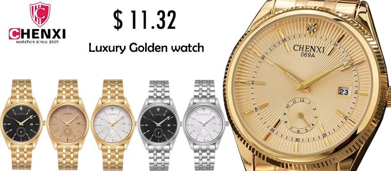 2017 chenxi amantes del oro relojes hombres mujeres reloj de cuarzo  resistente al agua de lujo de negocios reloj de pulsera de cuero 5f8fd67445d9