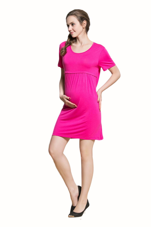 ツ)_/¯Bebé Vestidos Jersey largo negro embarazo vestidos túnicas ...