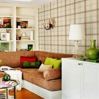 10m/Roll Wallpaper British Style Wallpaper Plaid Wall ...