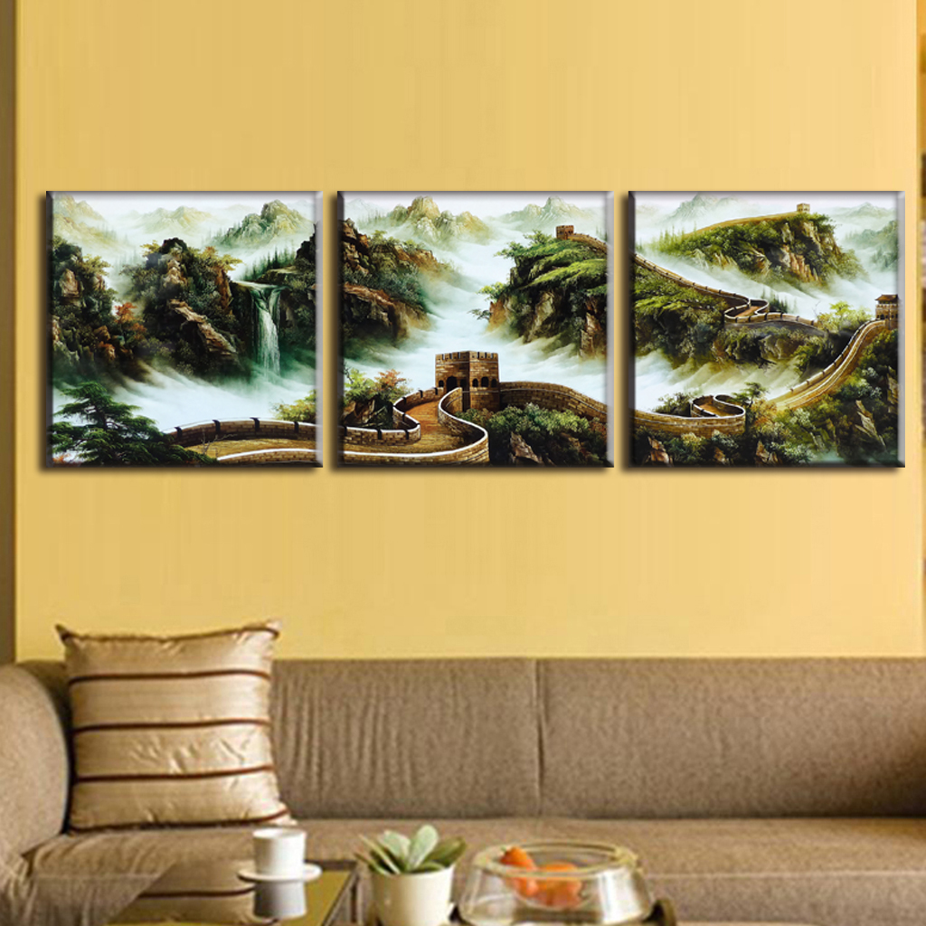 ∞Discount Framed Painting 3 Pcs/set Traditional Chinese Landscape ...
