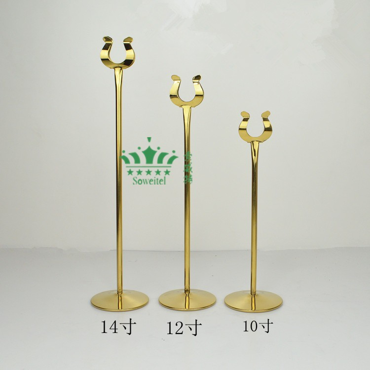 ②Large Size Inch Tall Stainless Steel Table Number Holders - Tall stainless steel table