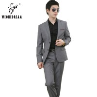 (Jacket+Vest+Pants+Tie) 2016 New Mens Wedding Suits Slim