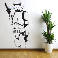 STAR WARS POSTER LARGE STORM TROOPER VINYL WALL STICKER ...