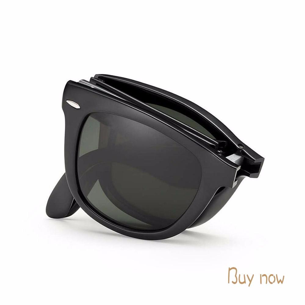 de9c012c1f VIAHDA 2016 classique fold Lunettes de Soleil pour hommes femmes Cool Ovale  polarisées UV400 Conduite chaude marque nouvelle Lunettes de Soleil frais  de sol