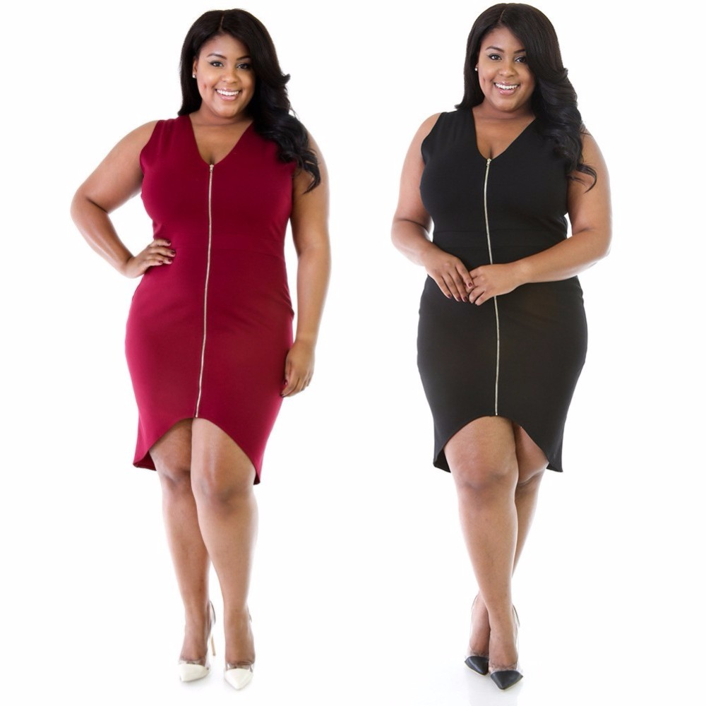 Fd7026 Women Summer Plus Size Sleeveless Knee Length Dress Jumpsuit Lx 517 2