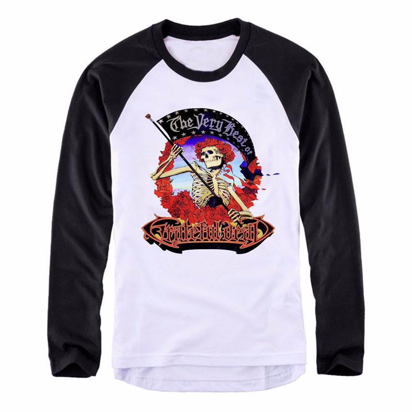Vintage Grateful T Shirt Pleins The Longues Manches Mode A261 Dead 4atwHtdnq7