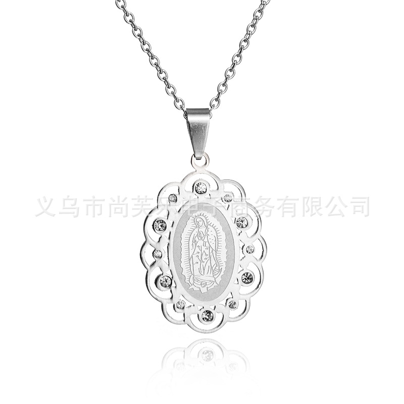 ᓂStatement Silver Geometry Goddess Pendant ᗐ Virgin Virgin