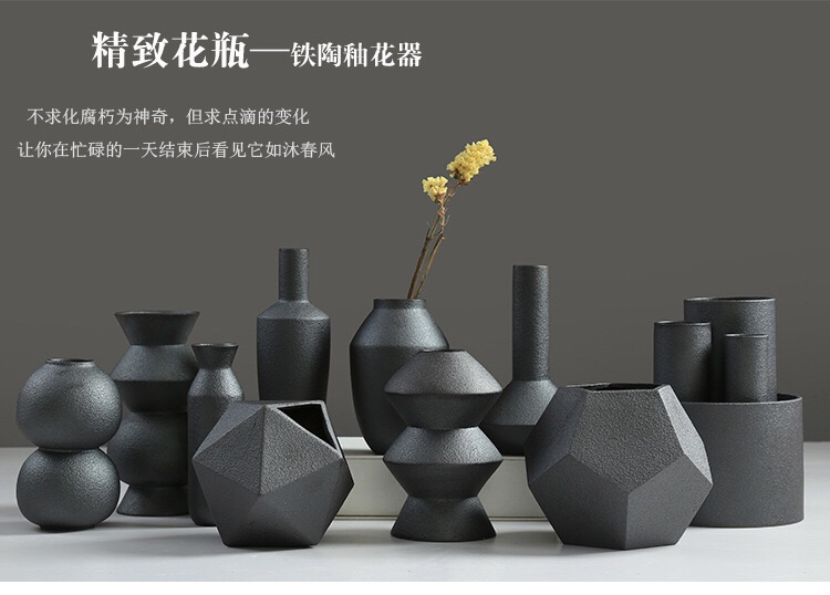 இfashion matte ceramic flower vase wedding decoration creative