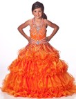 Cheap Orange Ball Gown Dresses for Girls