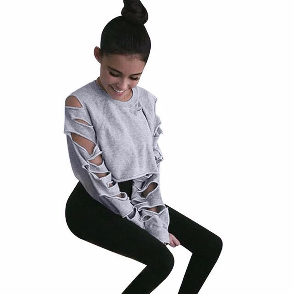 ᐂ2017 Nouveau Design Femmes Automne Manches Longues Sweat-Shirts ... 8c3510385bda