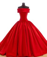 New Fashion Long Red Prom Dresses 2015 Off Shoulder Ball ...